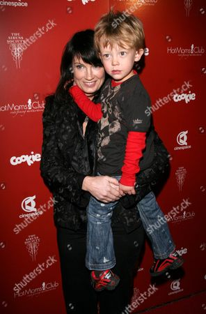 Meredith Brooks and son Troy