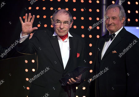 Lifetime Achievement Award went to rugby legend - Cliff Morgan (with Gareth Edwards)