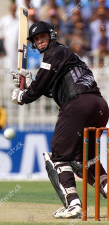 HORNE Matt Horne of New Zealand plays boundary off Pakistan's pacer Shoaib Akhter, in Rawalpindi, Pakistan. New Zealand and Pakistan are playing second one-day match