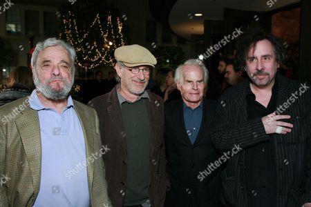 Stephen Sondheim, Steven Spielberg, Richard Zanuck & Tim Burton