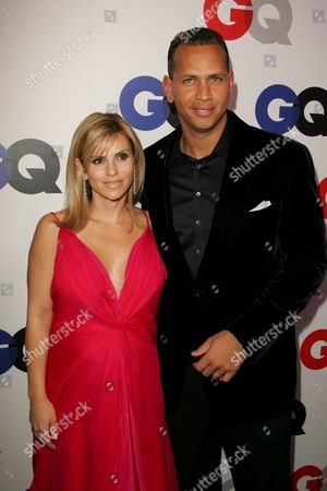 Stock Photo of Alex Rodriguez and wife Cynthia Scurtis