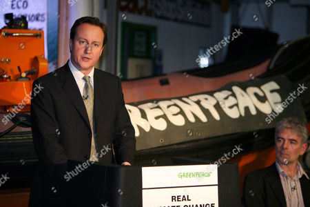 David Cameron with  John Sauven Ex Director of Greenpeace.