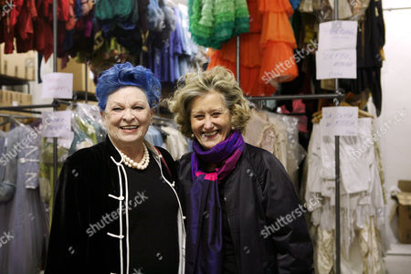 Lucia Bose' and the Oscar winning costumist Gabriella Pescucci stand in Tirelli's new rooms that hold their complete collection of costumes.The Italian costume maker has produced the wardrobes for many films over the years.