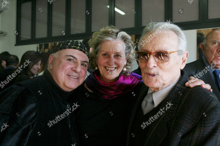 Academy Awards winning costume designers Maurizio Millenotti, Gabriella Pescucci and PieroTosi at Tirelli's new rooms that hold a complete collection of costumes.The Italian costume maker has produced the wardrobes for many films over the years.