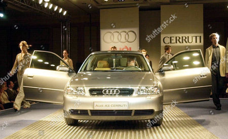 AUDI A3 CERRUTI An Audi A3 Cerruti, one of a short series of 50 cars made in cooperation between the German carmaker and Italian fashion designer Nino Cerruti for the Polish market is presented in Warsaw on