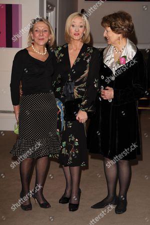 Stock Image of Dotti Irving, JK Rowling and Baroness Emma Nicholson
