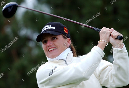 LORIE KANE Canadian Lorie Kane hits a drive on the third hole of the final round of the CJ Nine Bridges Classic on Jeju Island, South Korea, . Kane finished in a third-place tie