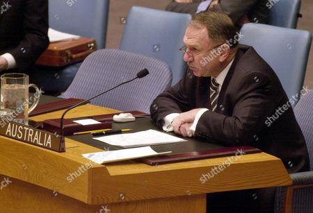 DAUTH Australia Ambassador John Dauth addresses the United Nations Security Council in New York