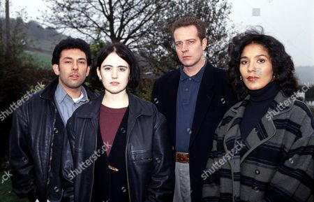 L-R.Enzo Squillino Jnr., Tracy Whitwell, Jack Ellis, and Caroline Lee-Johnson in 'The Knock' - 1994