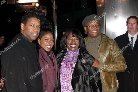 Denzel Washington, Paulette Washington, LaTanya Richardson and S