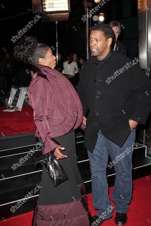 Denzel Washington and Paulette Washington