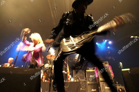 Stock Photo of Singer Michael Monroe (left) and guitarist Andy McCoy