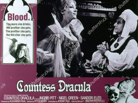 COUNTESS DRACULA, Ingrid Pitt and Patience Collier feature on film poster POSTERS