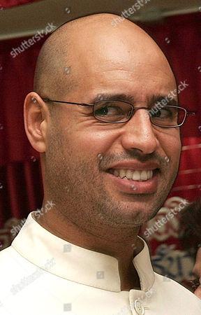 Saif al-Islam al-Gaddafi, son of Libyan leader Colonel Muammar Gaddafi