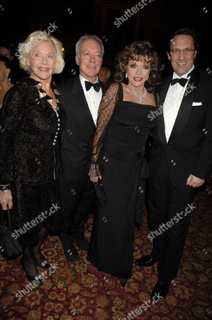 Honor Blackman, Joan Collins and Percy Gibson