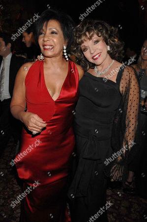 Shirley Bassey and Joan Collins