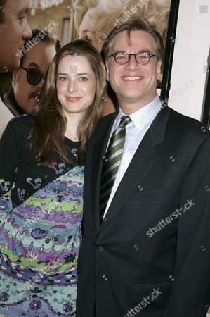 Stock Image of Aaron Sorkin, writer of the film and girlfriend Alexandra Wilson