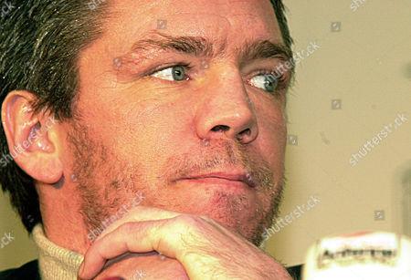 ROCCHIGIANI Portrait of German light-heavyweight boxer Graciano Rocchigiani during a news conference in Hanover, northern Germany on Thursday, January13, 2000. Roccigiani challenges German WBO-Champion Dariusz Michalczewski on April15 in Hanover
