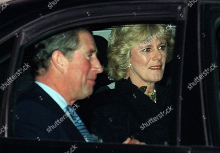 CHARLES PARKER BOWLES Britain's Prince Charles and his friend Camilla Parker Bowles leave the Ritz Hotel in London, after attending the 50th birthday party of Camilla's sister, Annabel Elliott. It is the first time that the couple, who have been friends for more than 25 years, have appeared together in public, at last giving Britain's photographers the picture they've been seeking for years