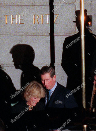 Britain's Prince of Wales and his friend Camilla Parker Bowles leave the Ritz Hotel in London, after attending the 50th birthday party of Camillas sister, Annabel Elliott. It is the first time that the couple, who have been friends for more than 25 years, have appeared together in public