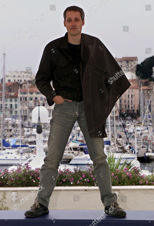"""RECHA Spanish director Marc Recha stands on the plateform while posing during a photo call at the festival palace in Cannes, France, . His film """"Pau i el seu germa (Pau and his brother"""" will be screened tonight in competition for the 54th International Film Festival"""
