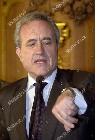 TIBERI Conservative Paris Mayor Jean Tiberi reacts to the municipal elections' first results, at the Paris City Hall . Scandals over kickback schemes centering on Paris City Hall, and allegedly dating to the days of President Jacques Chirac, have been a handicap for the right, and have tarnished Tiberi, hand-picked to succeed Chirac in 1995