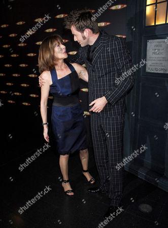 Elisabeth Sladen and David Tennant