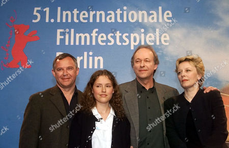 "JANDA Polish actors Marek Kondrat, Olga Frycz, director Wojciech Marczewski and actress Krystyna Janda, from left, pose before a press conference on their film ""Weiser"" at the Berlinale Film Festival in Berlin . 23 movies are in the competition for the Golden and Silver Bear awards until Feb.18, 2001"