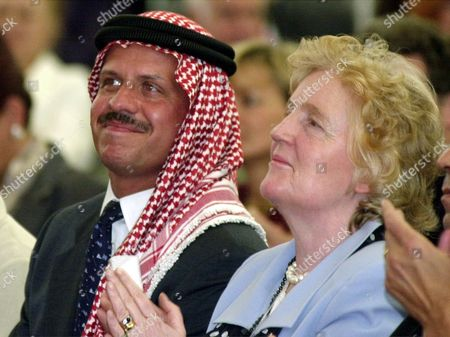 AL HUSSEIN BREUEL Prince Faisal bin Al-Hussein of Jordan, left, brother of Jordan's KIng Abdullah, and secretary general of the world exhibition Expo 2000 Birgit Breuel take part at the opening ceremony of Jordan's national day at the Expo in Hanover, northern Germany, on . The Expo will run until October 31, 2000