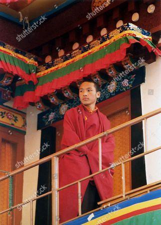 KARMAPA The seventeenth Karmapa, Urgyen Trinley Dorje, arrives at the Tibetan Institute of Prforming Arts, the venue of the Shoton festival, an annual festival of traditional Tibetan opera, in Mcleodganj, India