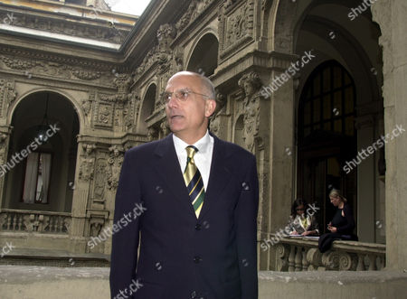 Center-right mayor of Milan Gabriele Albertini poses at the town hall, Palazzo Marino, . Albertini will begin a second term in Italy's financial capital with 57.1 % of the vote, more than the center-right coalition won in in city council votes