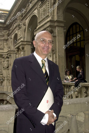 Center-right mayor of Milan Gabriele Albertini poses at the Palazzo Marino town hall, . Albertini will begin a second term in Italy's financial capital with 57.1 % of the vote, more than the center-right coalition won in in city council votes
