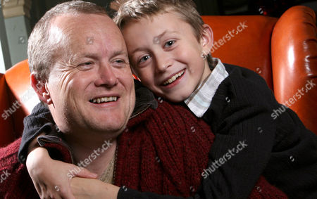 Stock Photo of Mike Tomlinson Husband of Fundraiser Jane Tomlinson Who Died This Year of Cancer with His Son Steven