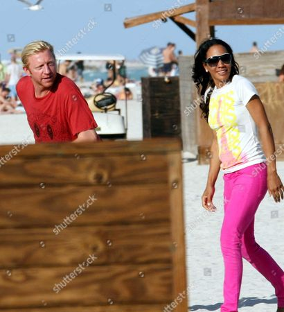 Boris Becker and ex-wife Barbara Feltus