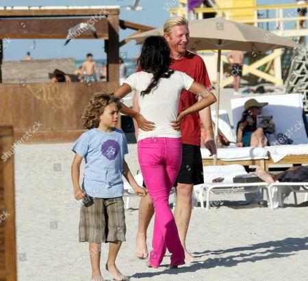 Boris Becker, son Elias Baltasar and ex-wife Barbara Feltus