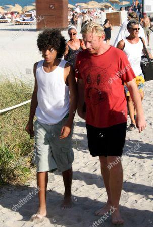 Boris Becker and son Noah Gabriel