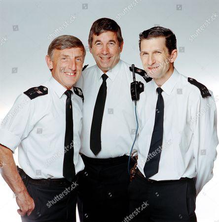 'The Bill'  TV - Sergeant Bob Cryer [Eric Richard] Chief Superintendent Charles Brownlow [Peter Ellis] PC Reg Hollis [Jeff Stewart]