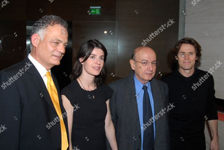 Lambis Tagmatarhis, Irene Jacob, Theodoros Angelopoulos and Willem Dafoe