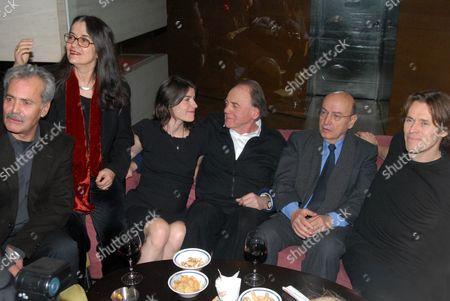 Andreas Sinanos, Eleni Karaindrou, Irene Jacob, Bruno Ganz, Theodoros Angelopoulos and Willem Dafoe