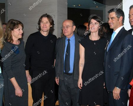 Reni Pitaki, Willem Dafoe, Theodoros Angelopoulos, Irene Jacob and tourism minister Aris Spiliotopoulos