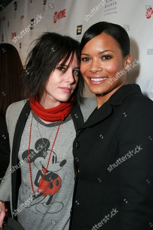 Katherine Moennig and Rose Rollins