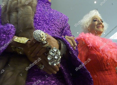 """Stock Picture of ERINA VON SACHSEN Princess Erina von Sachsen poses for photographers as she attends the """"Pompoes"""" fashion show in Berlin, Tuesday evening, . The fashion show displays the work of the German Harald Gloeckler"""