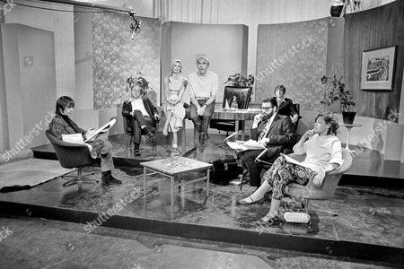 Stock Picture of ' We have Ways of Making You Laugh ' - 1968 Terry Gilliam, ?, Gina Warwick, Frank Muir, Eric Idle, Dick Vosburgh and Trisha Noble