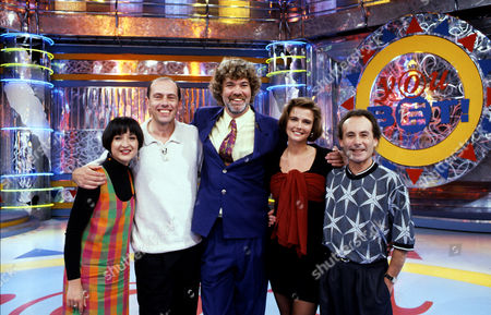 L-R.Jessica Martin, Steve Ovett, Matthew Kelly, Annabel Giles  and Jack Tinkler in 'You Bet' - 1992
