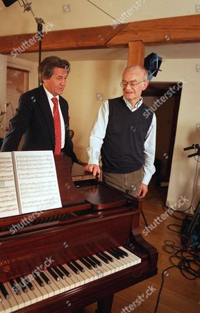 Stock Picture of 'The South Bank Show' TV Series - 2006 Picture Shows: Melvyn Bragg and John Rutter
