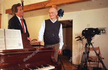 'The South Bank Show' TV Series - 2006 Picture Shows: Melvyn Bragg and John Rutter