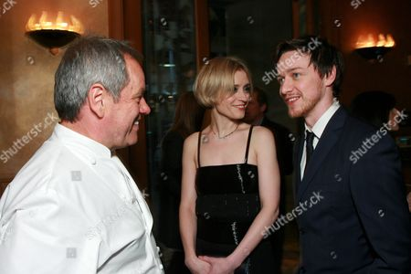 Wolfgang Puck, Ann-Marie Duff and James McAvoy