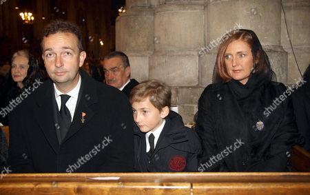 Archduke Karl von Habsburg with son, Archduke Ferdinand and wife Francesca