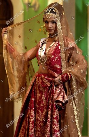 MISS INDIA Miss India Celina Jaitly competes in the Miss Universe costume competition wearing her national costume in San Juan, Puerto Rico . The competition was won by Miss Korea Sa-Lang Kim who wore a traditional handbok dress. The winner of this competition has no bearing on the winner of the final night May 11