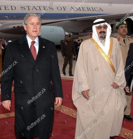President George W Bush and Saudi Arabia's King Abdullah bin Abd al-Aziz Al Saud